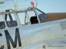 A close up of the the Betty Jane's cockpit.
