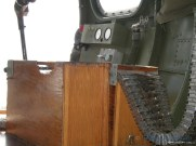 Nine O Nine interior: ammunition boxes for the nose turret.