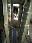 The catwalk through the Nine O Nine's bomb bay... It's a tight fit!