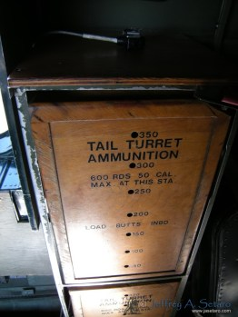 A close-up of ammunition boxes on the Witchcraft.