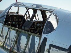 A close-up of the Betty Jane's cockpit.