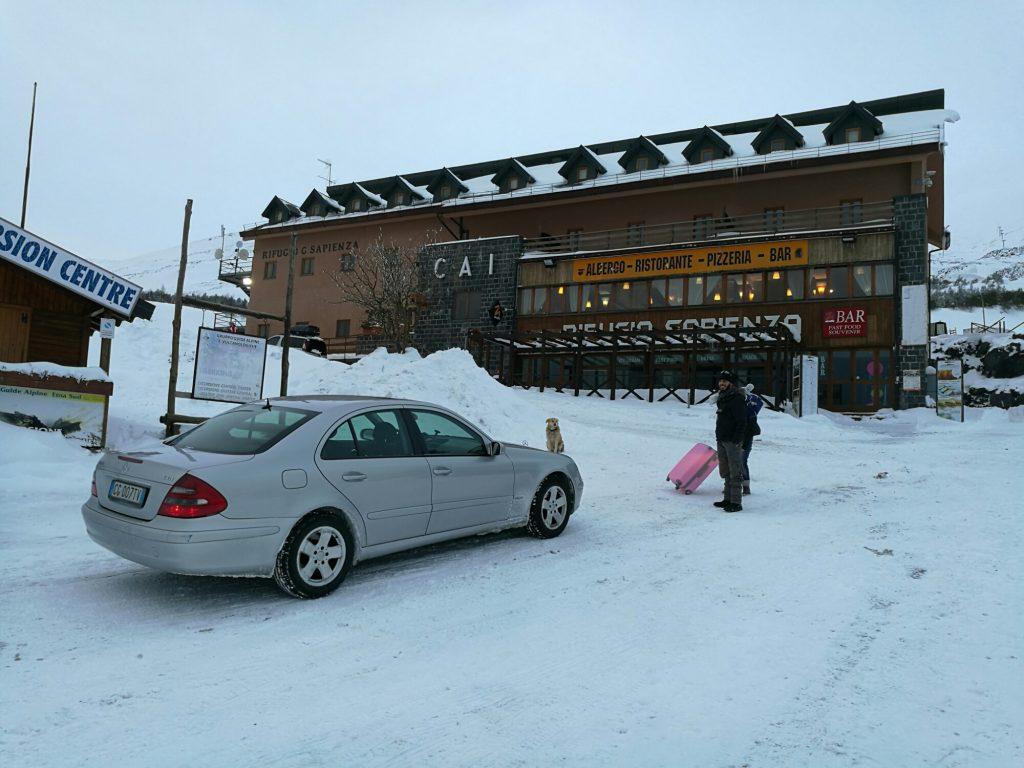 Ski season on Mount Etna
