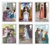 I francobolli che Royal Mail ha dedicato a Jane Austen nel 2013
