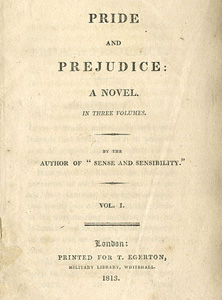 Pride and prejudice - 1813