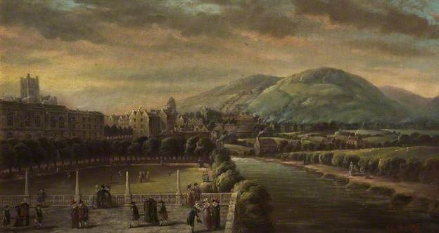 John Charles Maggs: Lower Assembly Rooms from North Parade, Bath, c. 1760 (1881)