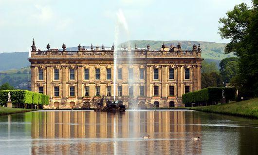 Chatsworth House, probabile modello di Pemberley (ma sembra che Jane Austen non ci andò mai)