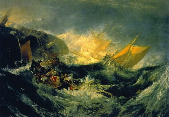 J.M.W. Turner, Il naufragio della Minotauro. Olio su tela (1793)