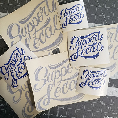 Support Local Decals