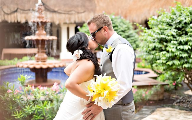 Susan & Mike's Quirky Rainy Day Wedding at Now Sapphire Riviera Cancun