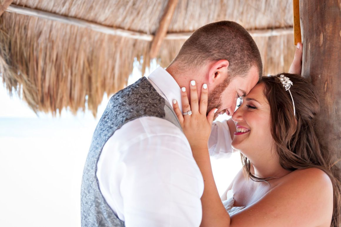 Natalie & Chad's Silly yet Glamourous Garden Wedding at Hotel Riu Yucatan