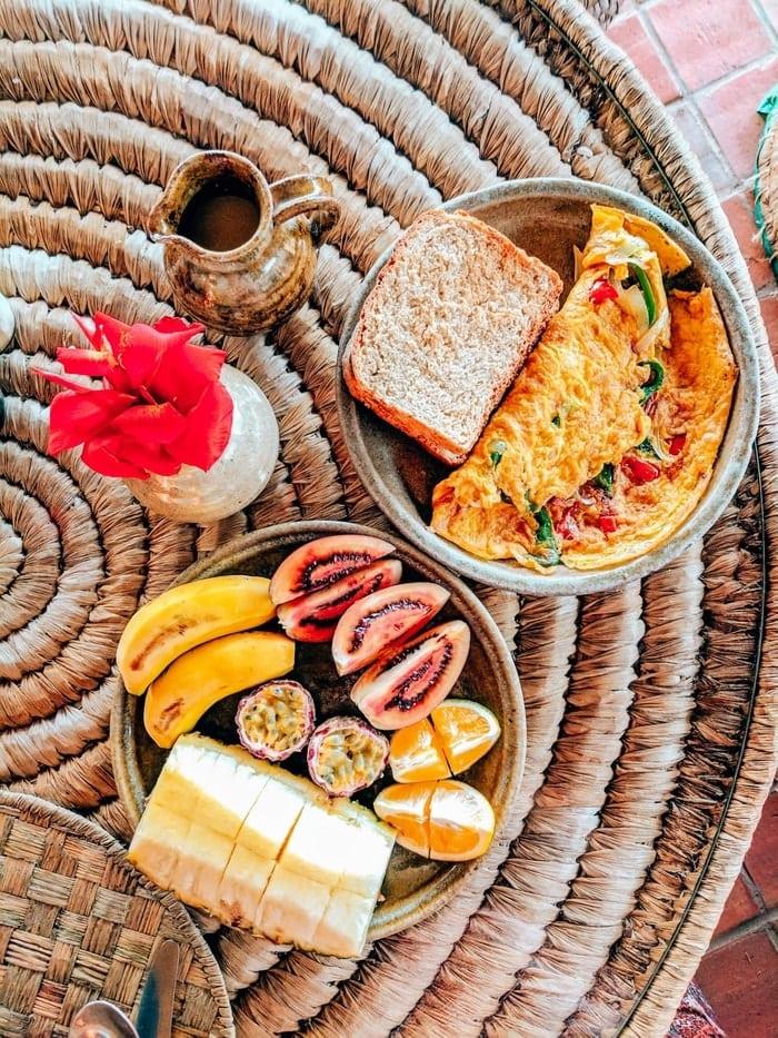 Breakfast at Inzu Lodge in Gisenyi, Rwanda