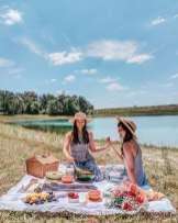 Lakeside picnic