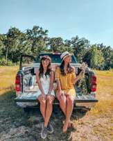 girls on truck bed