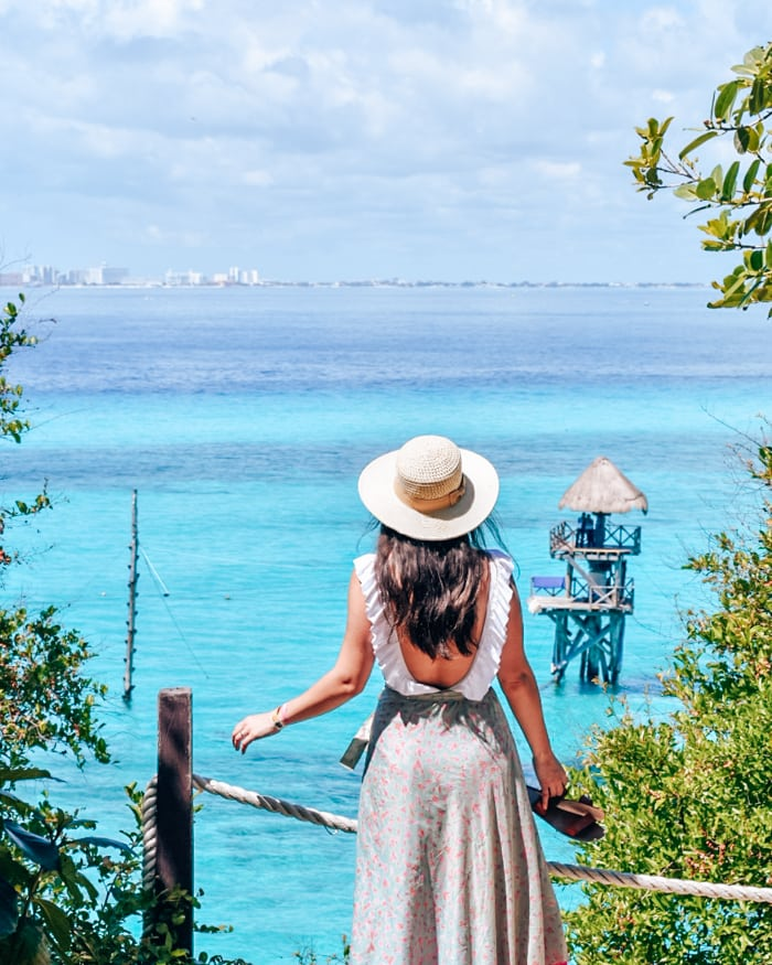 view of carribean from isla mujeres