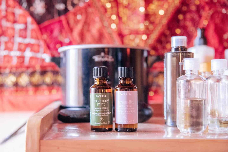 aveda massage oils at blue lotus day spa in ruidoso, nm