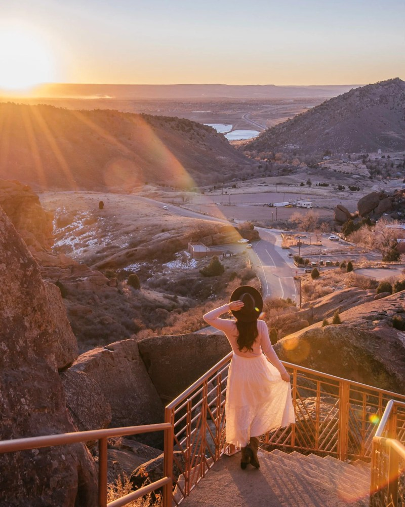 Sunrise at red rocks amphitheater, a Denver hidden gem