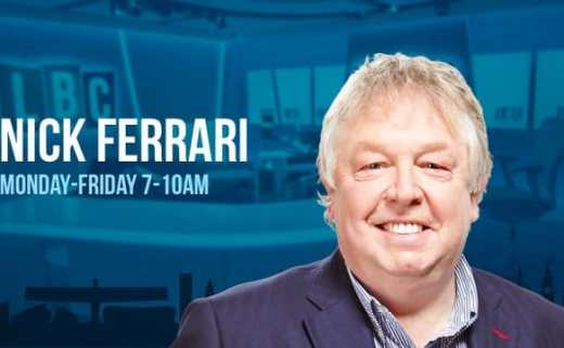 Nick Ferrari LBC Jasmine Birtles