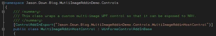 Control Add-In Name