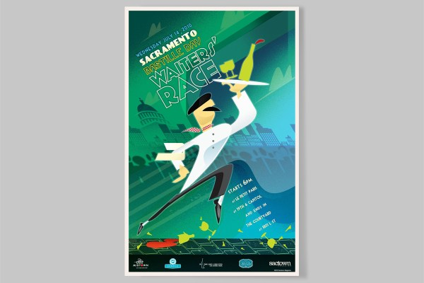 7 Years Of Bastille Day Waiters Race Posters Malmberg
