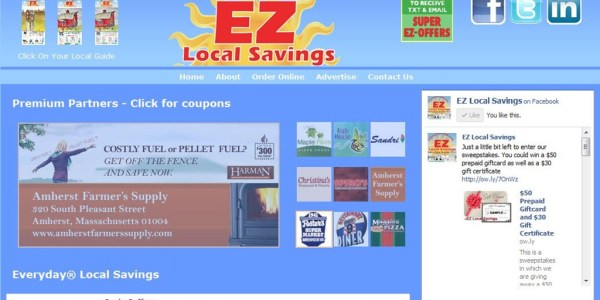 EZ Local Savings Relaunched Website