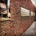 Gum wall at the Maid-Rite in Greeneville, OH