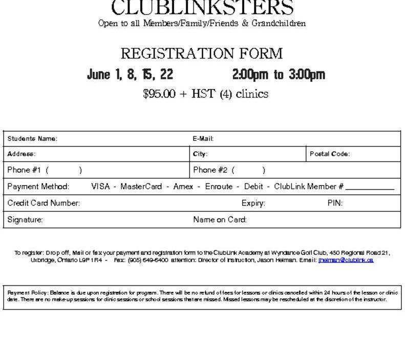 thumbnail of 2019 Wyndance ClubLinkster Registration Form