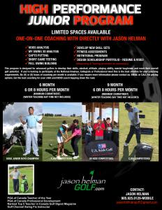High Performance Program - Jason Helman Golf best junior coach