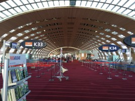 The spacious Paris terminal.