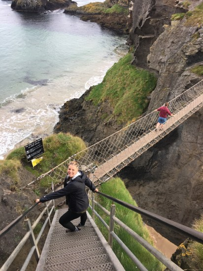 Carrick-A-Rede rope bridge! What people will do for delicious fish.