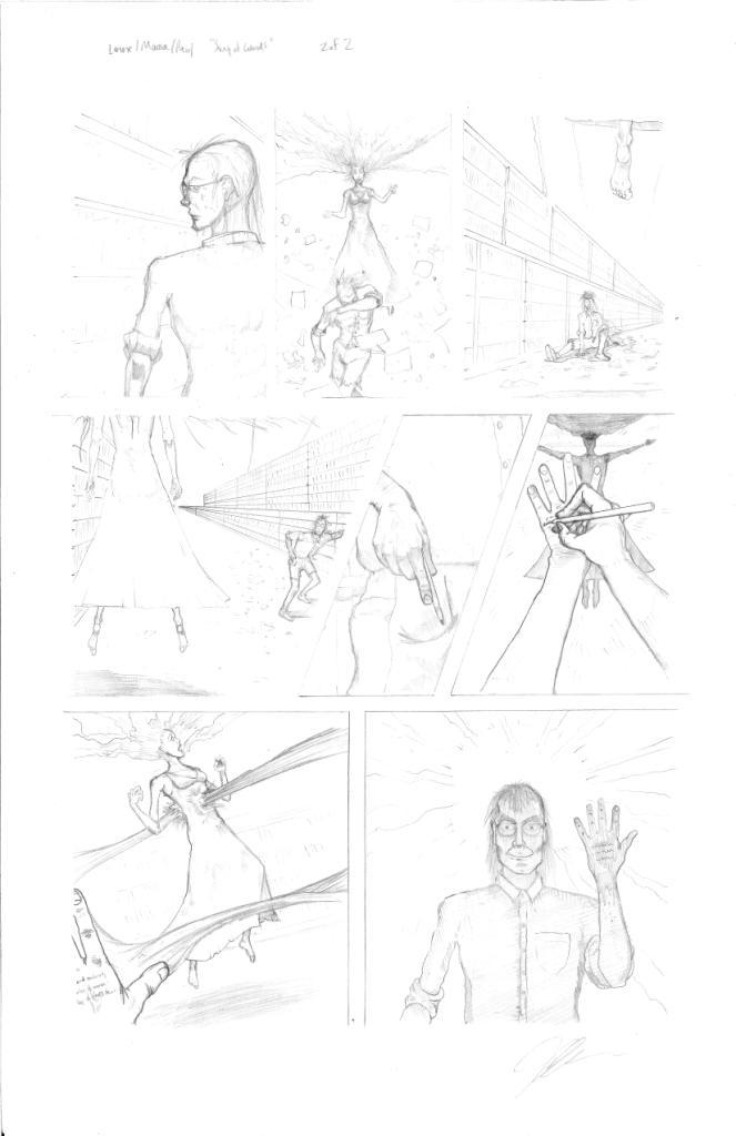 """The Gathering"" Anthology Short Story Page 2, Inks"