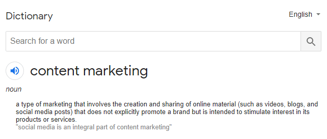 Content Marketing Meaning