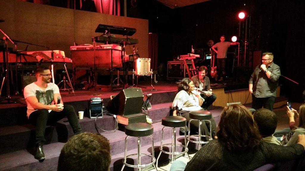 Danny Gokey and Mandisa perform at Jewel City Church in Shinnston