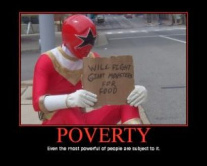 Power Rangers need steady pay too