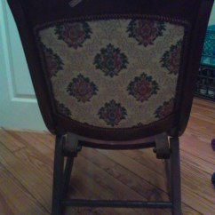 Antique Folding Rocking Chair Kids Wood Table And Chairs Jason's Junk - Free Appraisal Identification Of Antiques ...