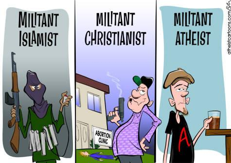 Image result for religious extremist vs atheist