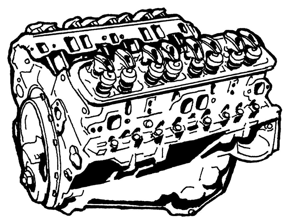 V8 Engine Art