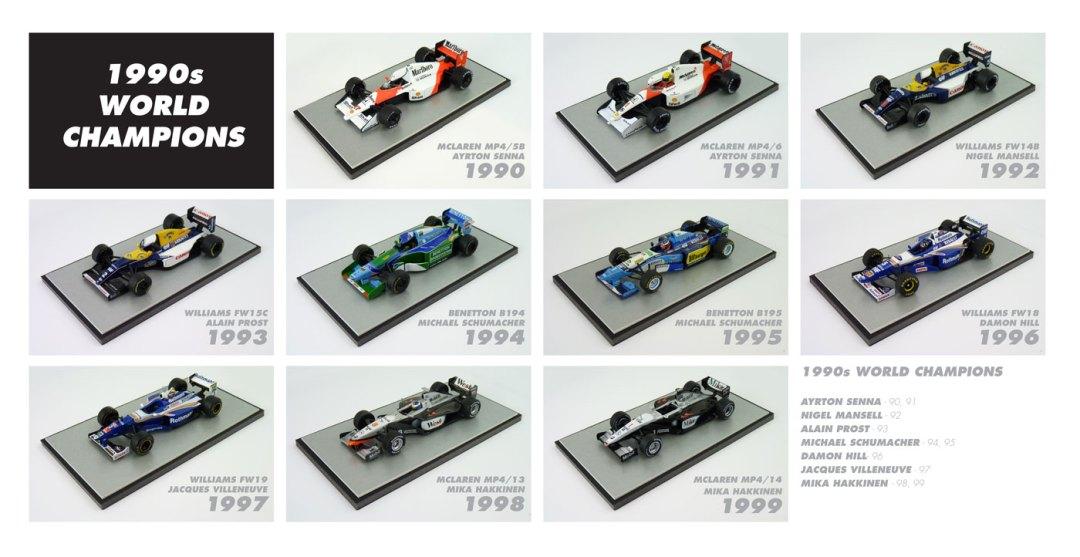 F1 World Champions 1990s Diecast Models