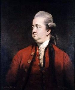 BBC206171 Portrait of Edward Gibbon (1737-94) c.1779 (oil on canvas) by Reynolds, Sir Joshua (1723-92) oil on canvas 73.6x62.2 Private Collection English, out of copyright