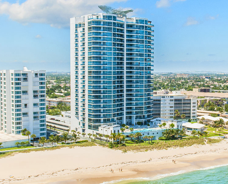 Aquazul condo lauderdale by the sea on the ocean front