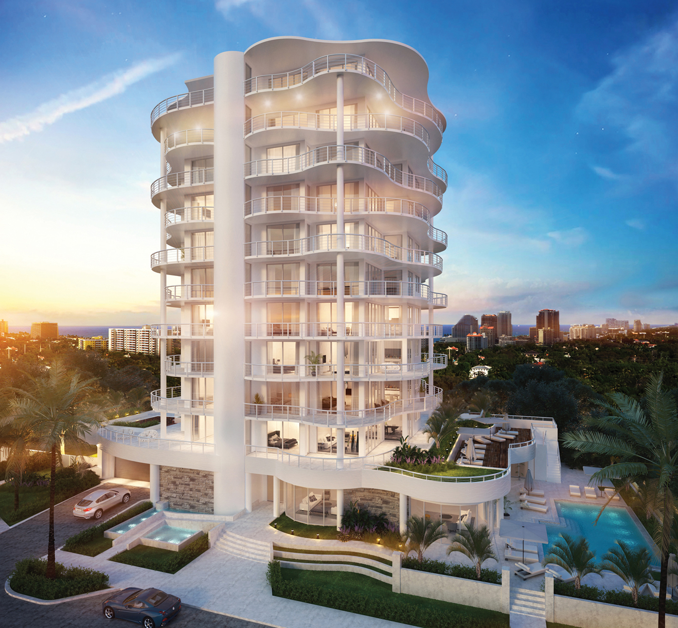 The Wave on Bayshore Condos on Fort Lauderdale Beach, New Construction