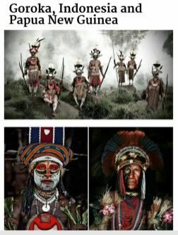 suku terasing goroka, indonesia