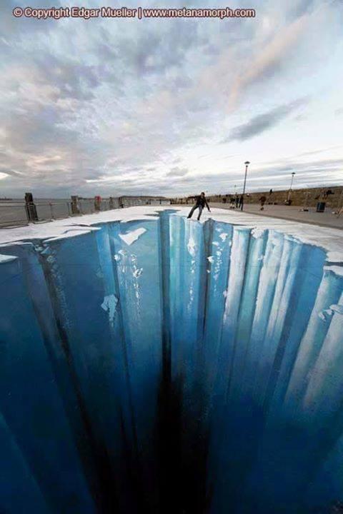 Menakjubkan Gambar Lukisan 3 Dimensi Jalanan ini