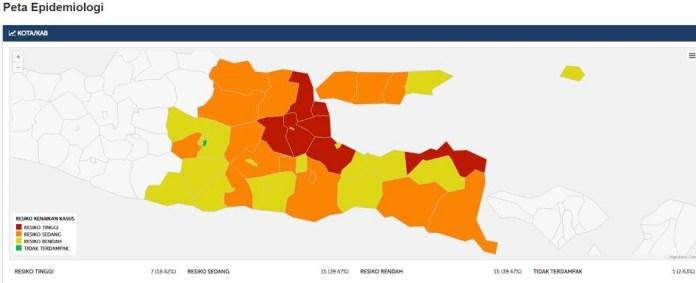 Peta Sebaran dari Laman BLC Gugus Tugas Pusat