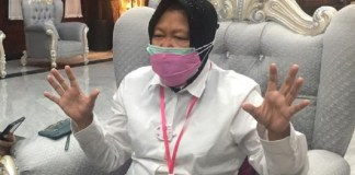Wali Kota Surabaya Tri Rismaharini Ajak Masyarakat Surabaya Tidak Sembrono dan Taati Protokol Kesehatan