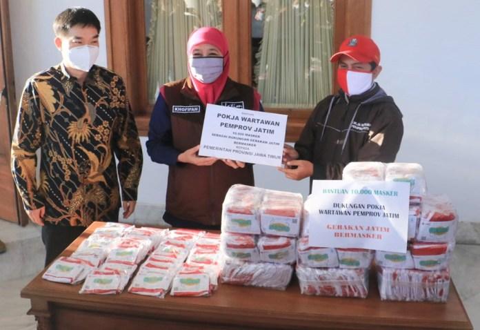 Dukung Gerakan Jatim Bermasker, Pemprov Jatim Terima Bantuan 71 Ribu Masker