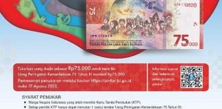 Animo Penukaran Uang Baru Pecahan Rp 75.000 di Jatim Cukup Tinggi