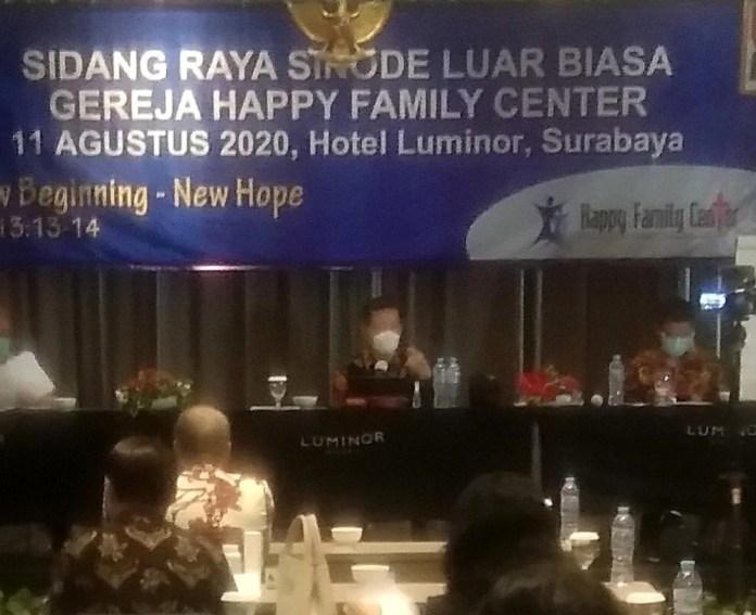 Sidang Raya Sinode Luar Biasa GHFC yang digelar di Hotel Luminor Surabaya, Selasa (11/8/2020)