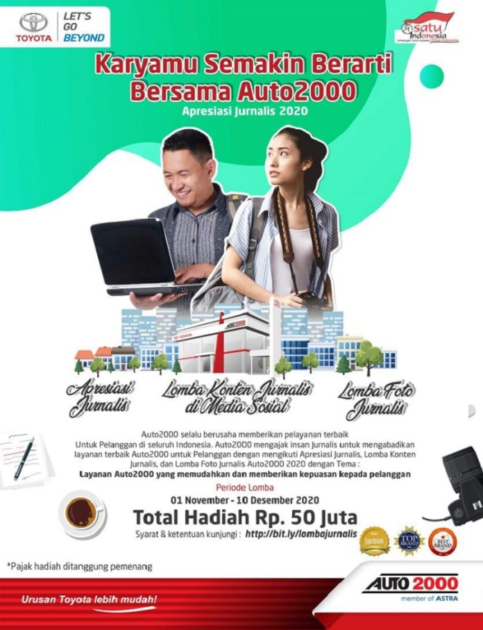 Auto2000 Gelar Journalist Writing & Photo Competition 2020