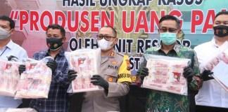 BI Gandeng Polrestabes Surabaya Ungkap Pembuatan dan Pengedaran Uang Palsu