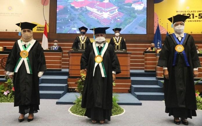 UNAIR Kembali Kukuhjan 3 Guru Besar Baru